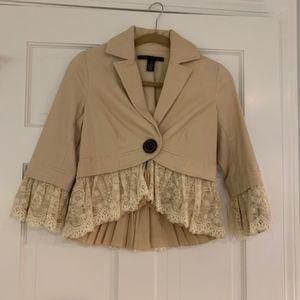 Robert Rodriguez Velveteen jacket w/ lace trim- 4